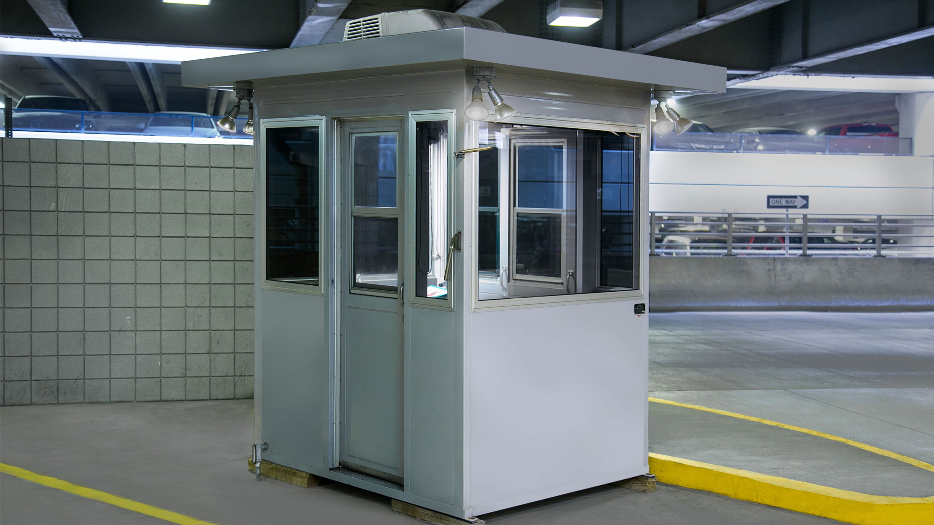Guard Booth with Exterior Lighting 17-033